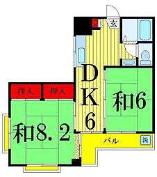 第二テルコマンション[1階]の間取り