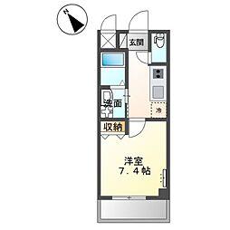 JR阪和線 三国ヶ丘駅 徒歩7分の賃貸マンション 1階1Kの間取り
