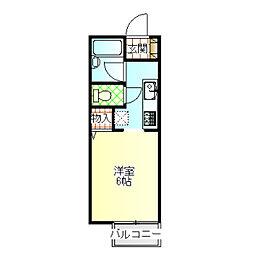 ジョイハウス3号棟[204号室]の間取り
