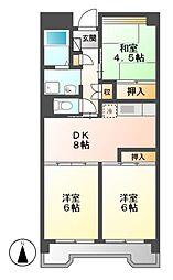 ビレッジハウス笠寺タワー[5階]の間取り