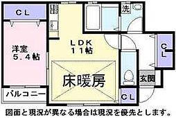 ラックハイム[1階]の間取り