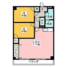 バロワール宝神[4階]の間取り