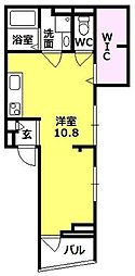 レジデンス西宮呉羽[202号室]の間取り