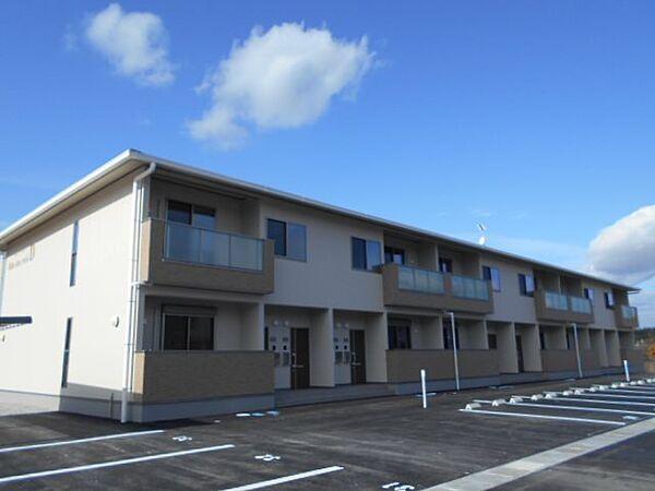 滋賀県蒲生郡竜王町大字小口の賃貸アパートの外観
