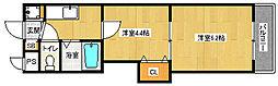 京都府京都市中京区三本木町の賃貸マンションの間取り