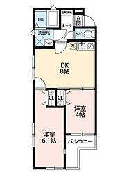 仮称 田無4丁目アパート[201号室]の間取り