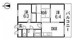 第2大上ビル[2階]の間取り