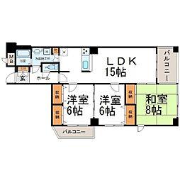 アミング潮江15−3[6階]の間取り