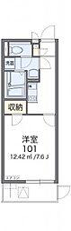 レオネクストリヴィエール武庫川 2階1Kの間取り