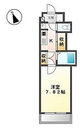 長野県上田市中央3丁目の賃貸マンションの間取り