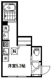 ソレイユ新城[101号室]の間取り