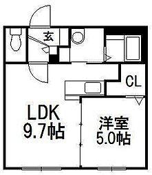 北海道札幌市南区澄川三条3丁目の賃貸マンションの間取り