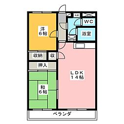 エンブレム松本[3階]の間取り