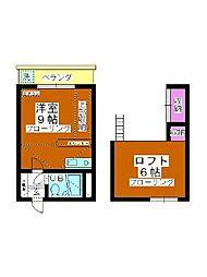 B・S HOUSE[102号室]の間取り