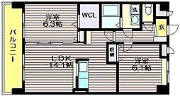 東京都調布市深大寺南町5の賃貸マンションの間取り