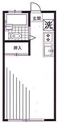 東京都世田谷区千歳台2丁目の賃貸アパートの間取り