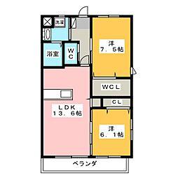 Le Ciel 上島[2階]の間取り
