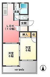 浜野マンション[2階]の間取り