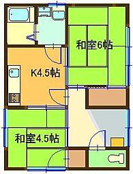 [一戸建] 鳥取県米子市皆生1丁目 の賃貸【/】の間取り