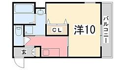 ヴィラナリー加古川[1階]の間取り
