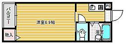 ミドウスジ2[3階]の間取り