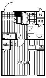 ラビオン所沢[104号室号室]の間取り