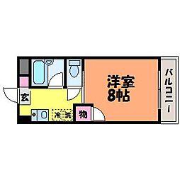 愛媛県松山市美沢1丁目の賃貸マンションの間取り