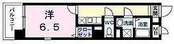 東京都江東区木場5丁目の賃貸マンションの間取り