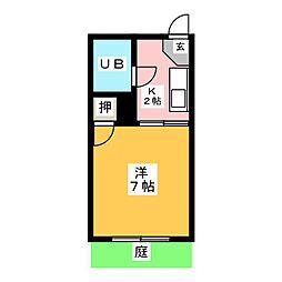コーポイトキB棟[1階]の間取り