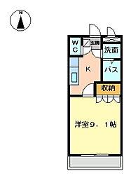 兵庫県姫路市福沢町の賃貸マンションの間取り