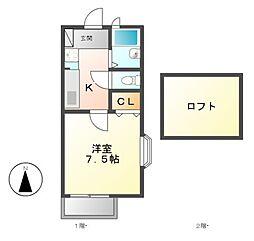リナシメント B棟[1階]の間取り