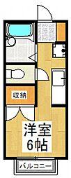 メゾンドフジミ[1階]の間取り