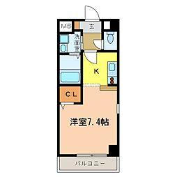 南海高野線 千代田駅 4分 アウローラ冨士 2階1Kの間取り