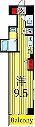 東京メトロ日比谷線 三ノ輪駅 徒歩3分の賃貸マンション 5階ワンルームの間取り
