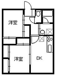 ペットマンションK&SⅡ[105号室]の間取り