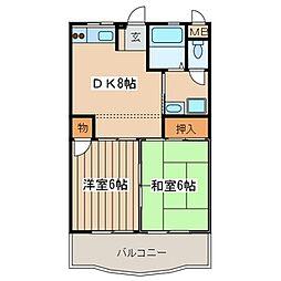 東京都町田市大蔵町の賃貸マンションの間取り