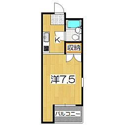 ハウスオブローゼ[303号室]の間取り