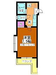 センチュリーコート本川越[303号室]の間取り