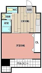 コンダクト小倉NO.1[605号室]の間取り