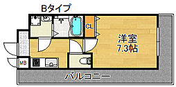 TOYOTOMI STAY PREMIUM 天王寺公園III 5階1Kの間取り
