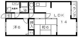 アビコOFK[5階]の間取り