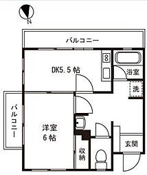 ニューライフ洗足[1階]の間取り