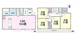 建物参考プラン:間取り/4LDK、土地建物参考価格/7270万円(税込)
