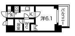 Osaka Metro堺筋線 堺筋本町駅 徒歩3分の賃貸マンション 8階1Kの間取り