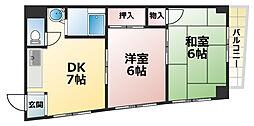 第1徳山ビル[4階]の間取り