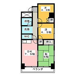 コスモハイム七番町[12階]の間取り