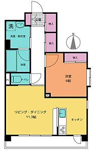 間取り,1LDK,面積56.2m2,賃料11.7万円,日暮里舎人ライナー 谷在家駅 徒歩1分,,東京都足立区谷在家3丁目20-20