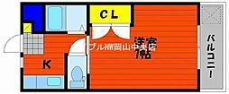 岡山県岡山市南区福富西2の賃貸マンションの間取り