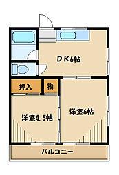 都ハウス[2階]の間取り