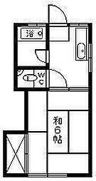 コーポ浜田[1階]の間取り